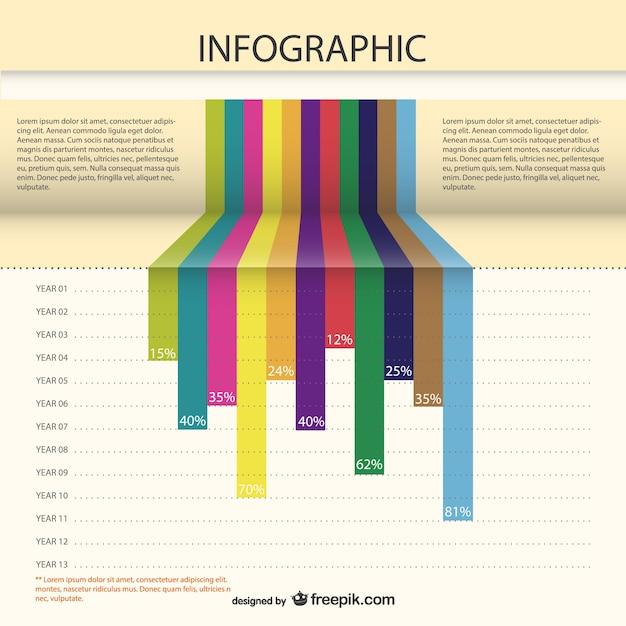 Roczne statystyki wektor infografiki