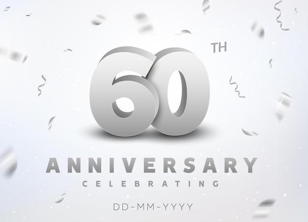 Rocznica obchodów 60-lecia srebrnego numeru. rocznicowy projekt transparentu ceremonii dla 60 lat.