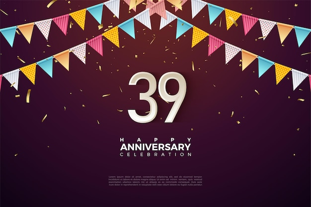 39. rocznica z numerami tuż pod flagą