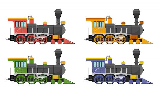 Rocznik lokomotywy parowa ilustracja odizolowywająca