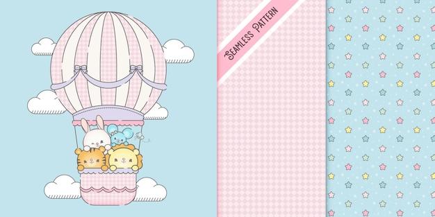 Rocznik premium balonem na ogrzane powietrze