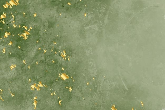 Rocznik zielona tekstura z złotym foliowym tłem