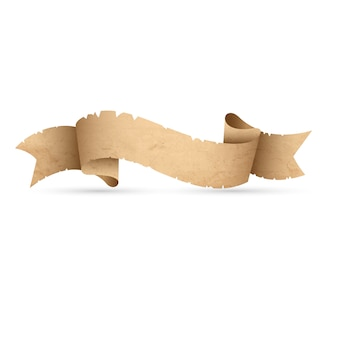 Rocznika grunge papieru sztandaru faborek odizolowywający