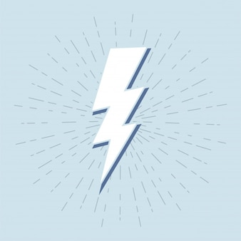 Rocznika grzmotu symbol z sunburst w grunge tle