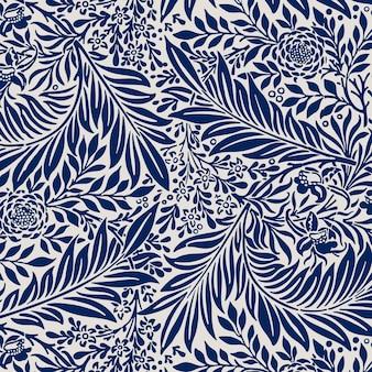 Rocznika liści bezszwowe tło wzór