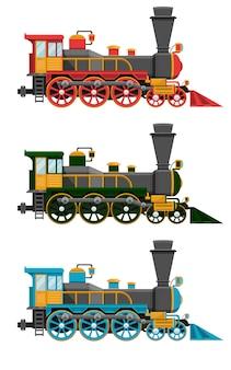 Rocznika projekta lokomotoryczna ilustracja odizolowywająca na białym tle