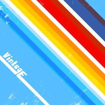 Rocznika tło z kolorowymi liniami