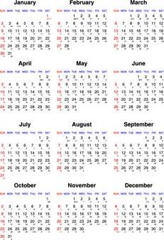 Roczny kalendarz