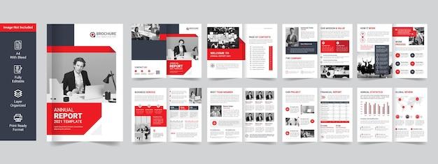 Roczny raport biznesowy lub szablon premium broszury firmowej