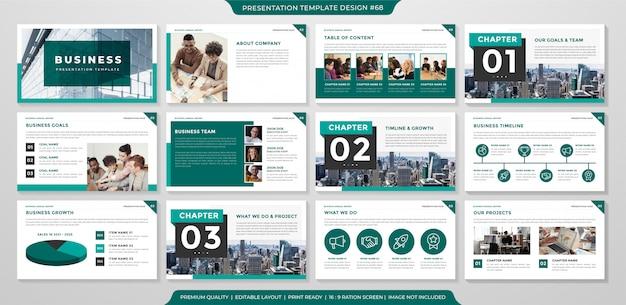 Roczny raport biznesowy z minimalistycznym i