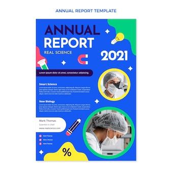 Roczny raport naukowy o płaskiej konstrukcji