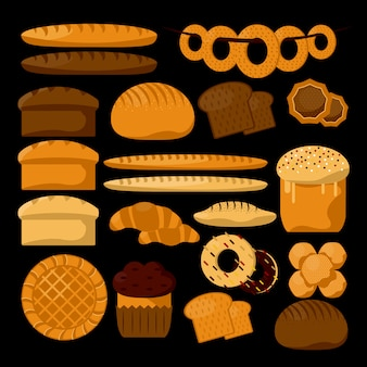 Rodzaje produktów piekarniczych lub cukierniczych.