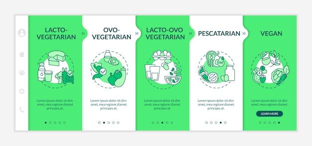 Rodzaje szablonów dołączania diet wegetariańskich