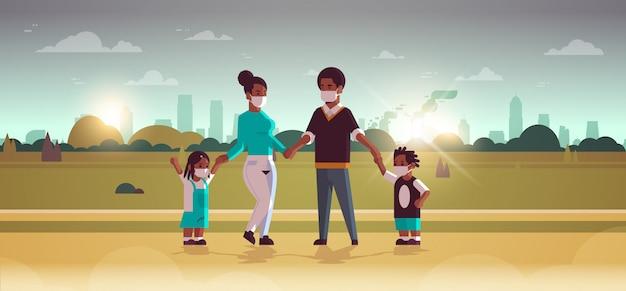 Rodzice i dzieci w maskach