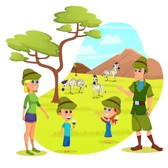 Rodzice i dzieci zoo weekendowa rozrywka, wakacje