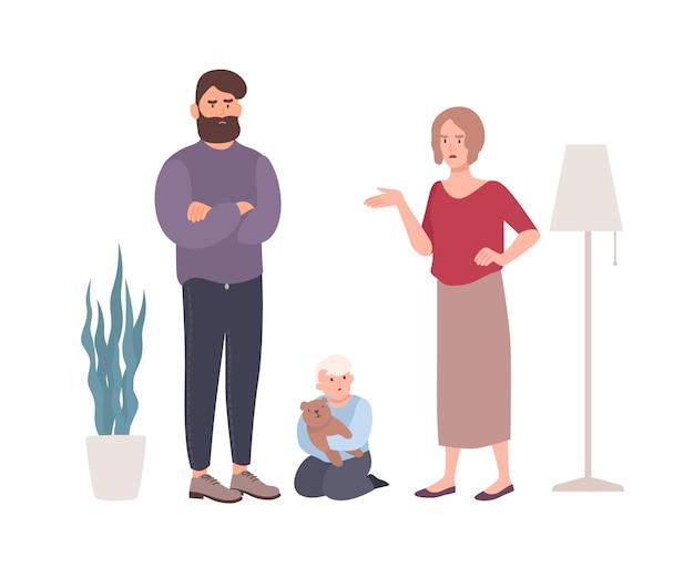 Rodzice kłócą się w obecności małego synka