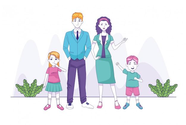 Rodzice łączą się z bohaterami rodziny syna i córki