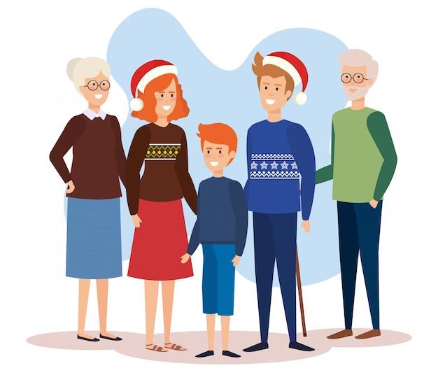 Rodzice Rodzice W Grudniu Ubrania Premium Wektorów