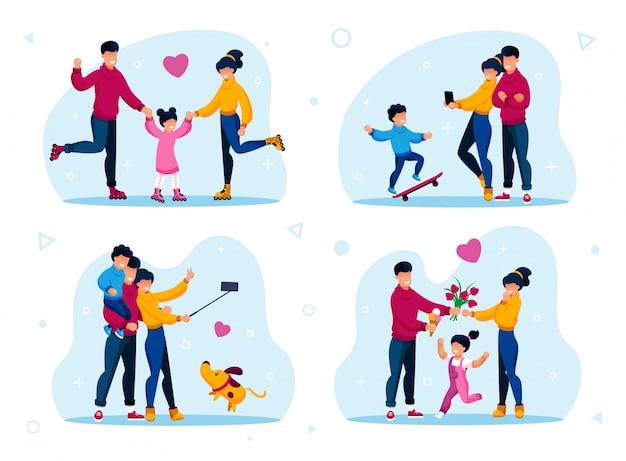 Rodzina aktywnego stylu życia i rekreacji