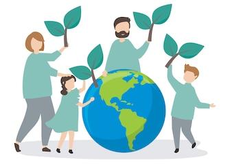 Rodzina dbająca o środowisko