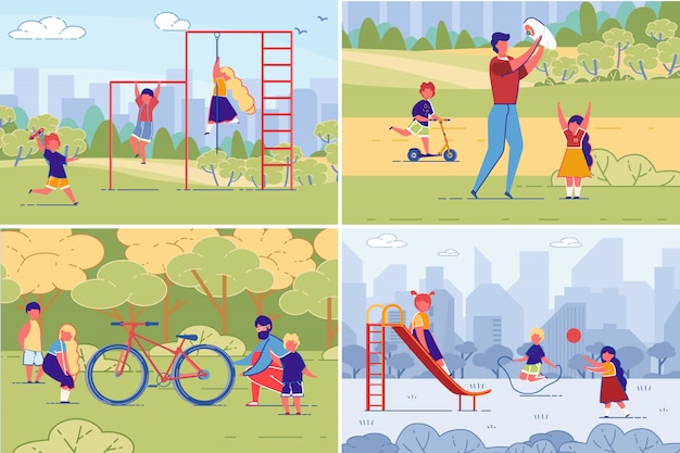 Rodzina i dzieci sport, trening, czas wolny.