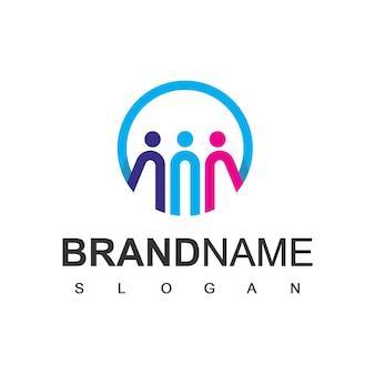 Rodzina logo projekt wektor