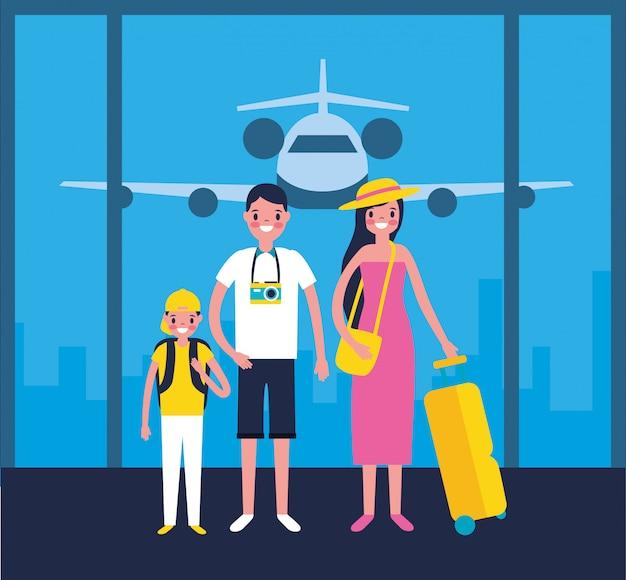 Rodzina na lotnisku