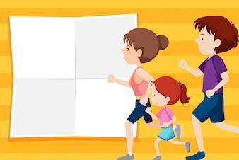 Rodzina na szablonie notatki