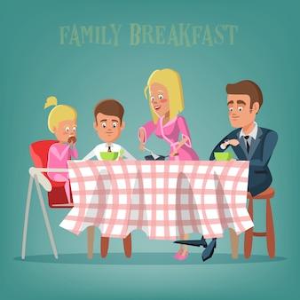 Rodzina po śniadaniu
