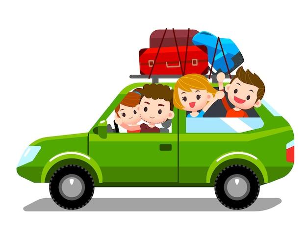 Rodzina podróżuje razem