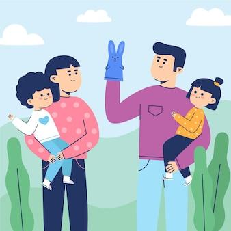 Rodzina spędzająca czas razem