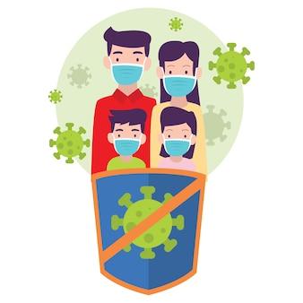Rodzina stara się zachować zdrowie, aby nie zarazić się rozprzestrzeniającym się wirusem