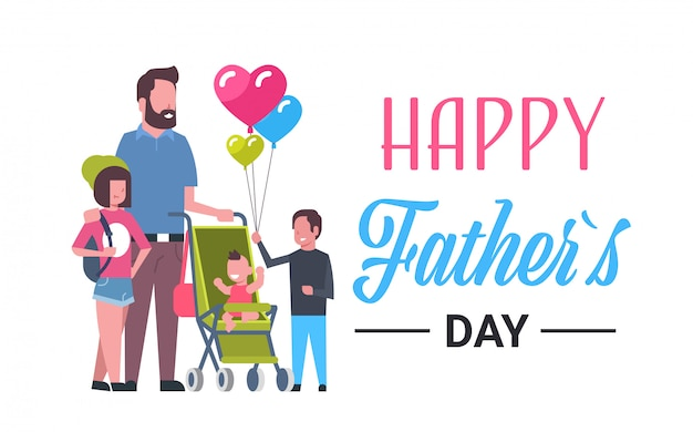 Rodzina świętuje dzień ojca