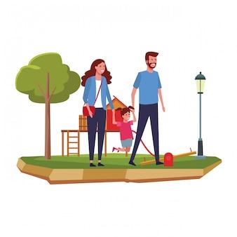 Rodzina w parku