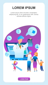 Rodzina z chorym dzieckiem komunikuje się z pediatrą