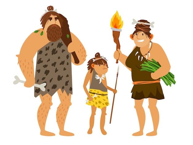 Rodzina z epoki kamienia