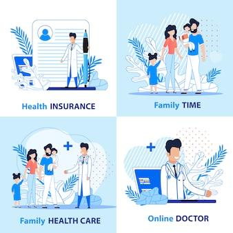 Rodzinna opieka zdrowotna i aktywny czas.
