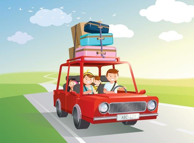 Rodzinna wycieczka samochodowa.