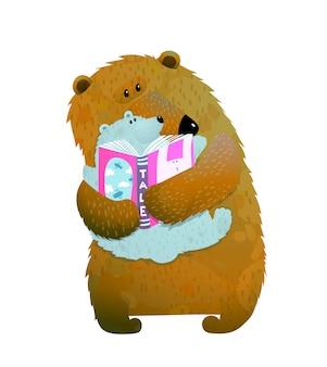 Rodzinne czytanie niedźwiedzi