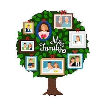 Rodzinne zielone drzewo