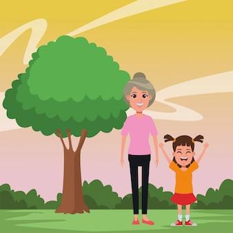Rodzinny avatar postać z kreskówki portret