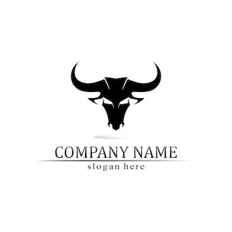 Róg byka i bawół logo i symbole szablon ikony aplikacji