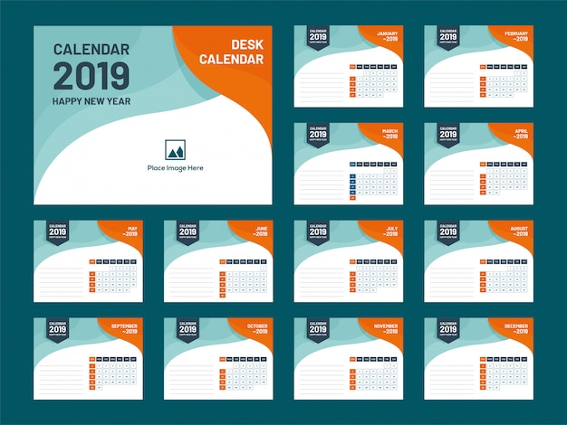 Rok 2019, projekt kalendarza.