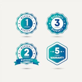 Rok gwarancji logo ikona ilustracja szablon projektu