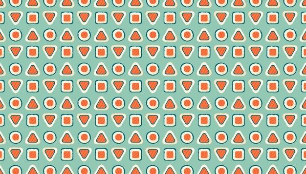 Roladki sushi z łososiem, ryżem i wodorostami nori. dostawa żywności azjatyckiej. wzór, tekstura
