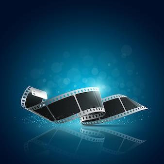 Rolka filmu aparatu na niebiesko.