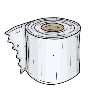 Rolka papieru toaletowego. ilustracja na białym tle