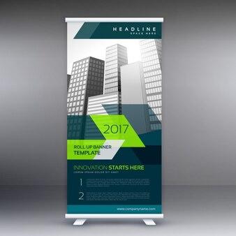 Roll up banner stand szablon dla prezentacji biznesowych