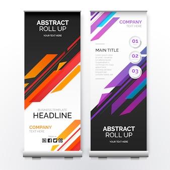 Roll up banner z nowoczesnymi kształtami