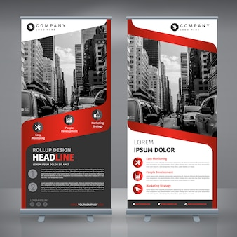 Roll up design template